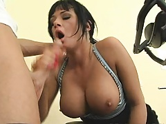 hot chick with firm tits sucks a hard dick