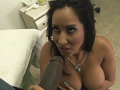 Big tits milf in the doctors office under black cock