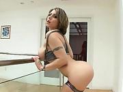 Busty Velicity Von shows off her nipples