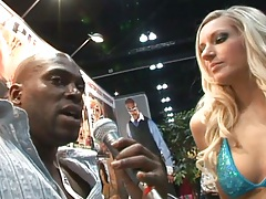 Blonde hottie Kylee Reese goes for some big black cock action