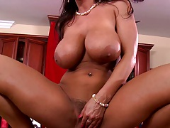 Reverse cowgirl anal with pornstar Lisa Ann