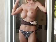 Sexy big tits gorgeous milf showing tits
