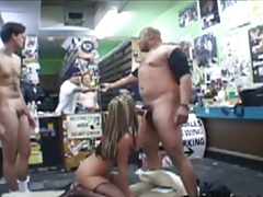Blowjob and group gang bang with Courtney Cummz everyone is taking turns