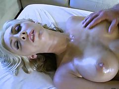 Massage table fucking oiled up busty Jessica Lynn