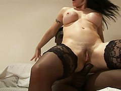Reverse cowgirl interracial mature with anal Daisy Rock