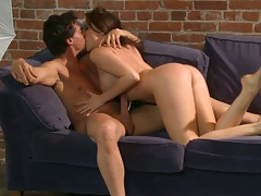 Making out and kissing nice ass Chanel Preston with a cowgirl fuck