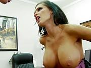 Big tits Jenna fucked on the table hardcore