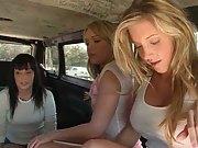Three hot chicks and a dude in da bangbus