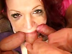 Rough sex mouth spreading many dicks in her throat with Janessa