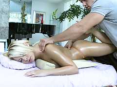 Madison Ivy oily massage touching her anus