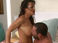 Licking firm Lisa Ann milf tits and deep anal penetration