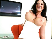 Jayden Jaymes bends over for some close up suckie