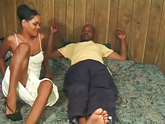 Suga Brown is a cute black spicy girl in home video fuck