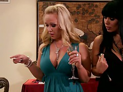 Milf like it big with hot dressed up moms gathering up