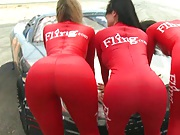 Nice ass with Alexis and Frenceska on car