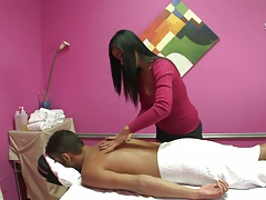 Asian massage with cute asian hottie in private room