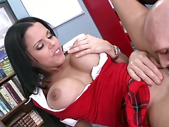 Big tits college biatch sucsk off behind her desk