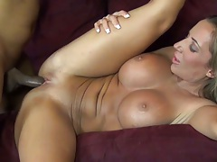 Busty hairless vagina milf Richelle Ryan in interracial bang