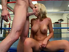Nice titty fuck ball licking blow job and sideways penetrated
