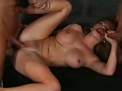 Prison inmates fuck Krissy Lynn with anal