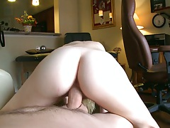 Pov hair pussy 18 year old gf reverse cowgirl and sits on cock