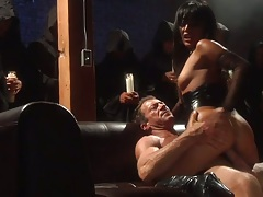 Kaylani Lei and s2 and Mikayla Mendez enjoy a group orgy and facial mouthful cumshots