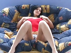 18 year old brunette Timea solo scene