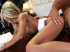 Gapping pussy McKenzee doing reverse cow girl fuck