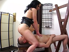 Jynx Maze and Kristina Rose in threesome doggy style anal with ass to mouth