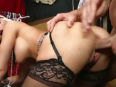 Doggy style milf penetration from blonde roaring whore Alena Croft
