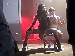 Asa Akira stripper asian in lingerie
