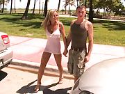 Beautiful Bree Olson going for cock and pulls it out