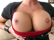 Big tits milf Shay Fox pulling out those boobies