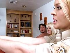Busty milf police officer Krissy Lynn needs cock