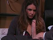 Serial Masturbator caught by Allie Haze