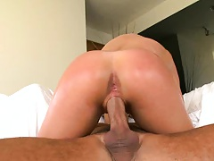 Teen with nice ass sitting on dick